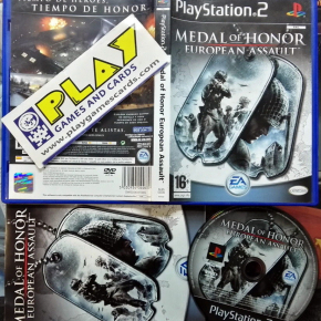 MEDAL OF HONOR EUROPEAN ASSAULT PAL ESPAÑA COMPLETO PS2 PLAYSTATION 2