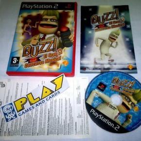 BUZZ EL GRAN CONCURSO MUSICAL PS2 COMPLETO PLAYSTATION 2 PAL ESPAÑA