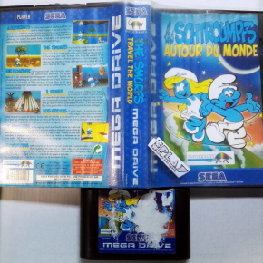 THE SMURFS TRAVEL THE WORLD PAL ESPAÑA MEGADRIVE MEGA DRIVE ENVIO CERTIFICADO