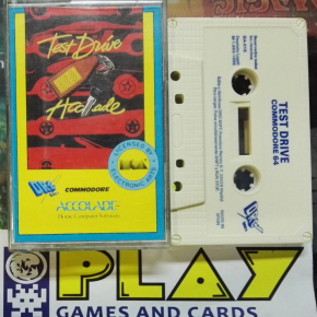 TEST DRIVE ACCOLADE COMMODORE 64 PAL ESPAÑA VERSION BUEN ESTADO
