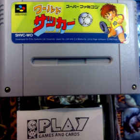 WORLD SOCCER SUPER FAMICOM CARTUCHO SFC SNES NINTENDO NTSC JAPAN WARUDO SAKKA