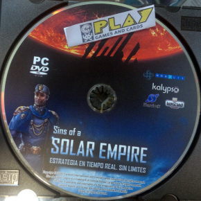 SINS OF A SOLAR EMPIRE PC PAL SOLO DISCO ENVIO CERTIFICADO / AGENCIA URGENTE 24H