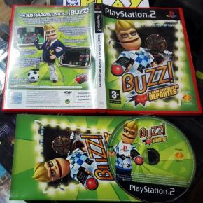 BUZZ EL GRAN CONCURSO DE DEPORTES PAL ESPAÑA MUY BUEN ESTADO PS2 PLAYSTATION 2