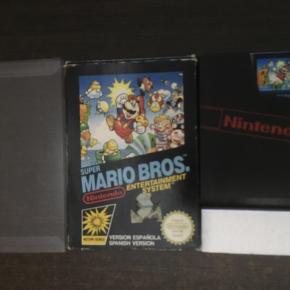 Super Mario Bros  insert caja corcho y protector. PAL-B españa NES - SM - ESP