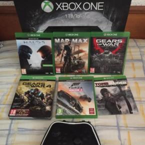 Xbox One 1tb + funda mando + 6 juegos