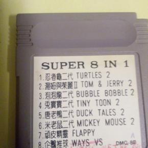 Juegos Game boy 8 juegos en 1
