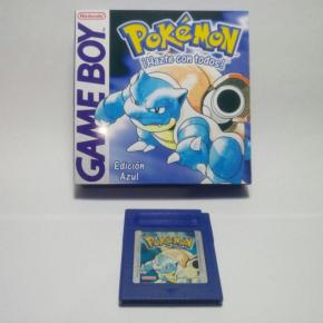 Cartucho Pokemon Azul + Caja Repro GB