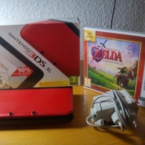 Nintendo 3DS XL + cargador + Zelda Ocarina of time