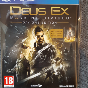 DEUS EX: MANKIND DIVIDED DAY ONE CON STEELBOOK