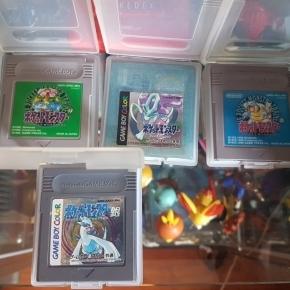 Cartuchos Pocket Monsters. Pokémon edición japonesa.