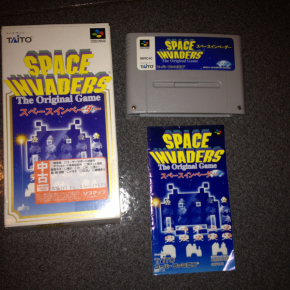 JUEGO SPACE INVADERS COMPLETO SUPER FAMICOM JAPONESA SUPERNES