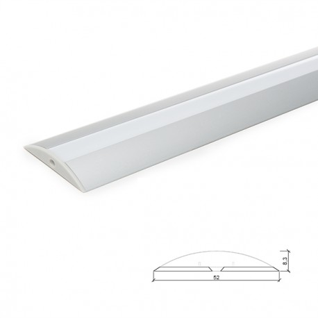 Profile Aluminium For LED Strip Diffuser Milky - 2M