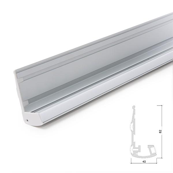 Perfíl Iluminación Escaleras - Gomas Antideslizantes - Difusor...