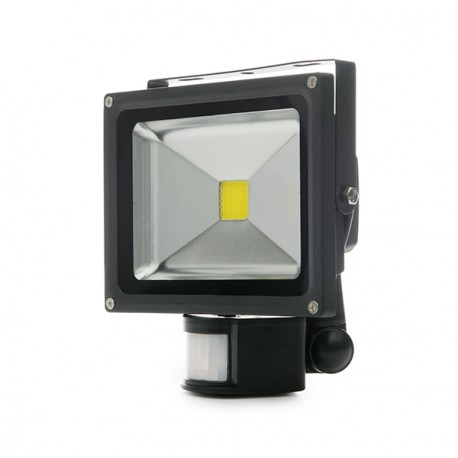LED Floodlight IP65 Movement Detector 20W 1800Lm 30.000H