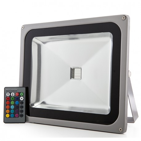 LED Floodlight IP65 50W RGB Remote Control