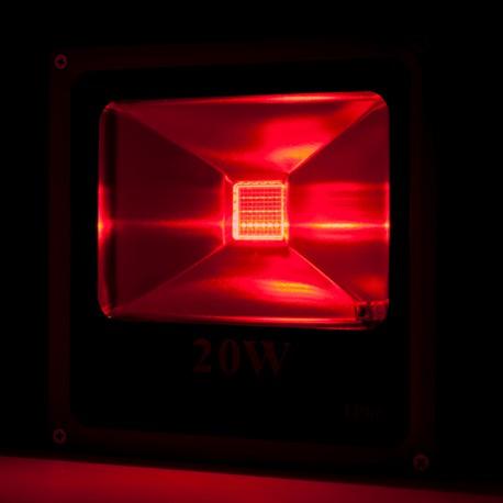 Foco Proyector de LEDs para Exterior ECOLINE 20W RGB con Mando a Distancia
