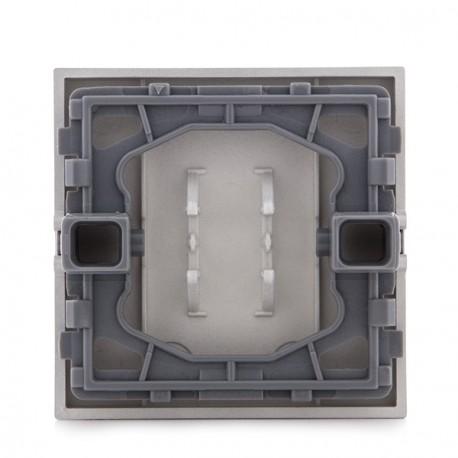 Tecla PANASONIC NOVELLA para Interruptor, Conmutador y Cruzamiento, Color Plata (compatible Mecanismo KARRE)