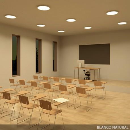 Plafón de Techo de LEDs Circular de Superficie Ø500mm 36W 2700Lm 30.000H