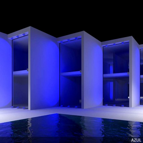 LED Outdoor Floodlight BRICO 50W 4250Lm 30.000H Blue