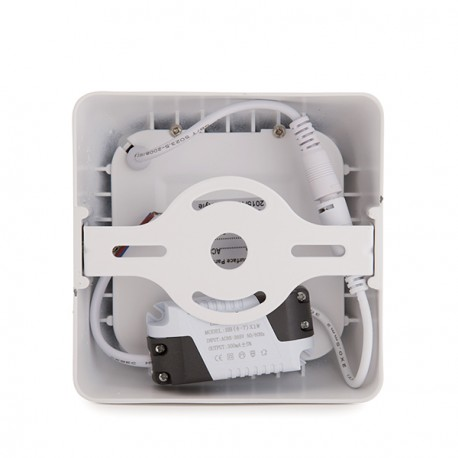 """Square Surface Mounted LED Ceiling Lamp """"""""STYLE"""""""" 120mm 6W 470Lm 30.000H"""