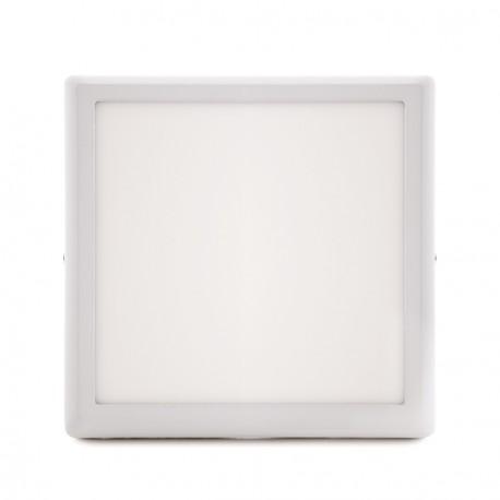 "Plafón de Techo de LEDs Cuadrado de Superficie ""STYLE"" 225mm 18W 1440Lm 30.000H"
