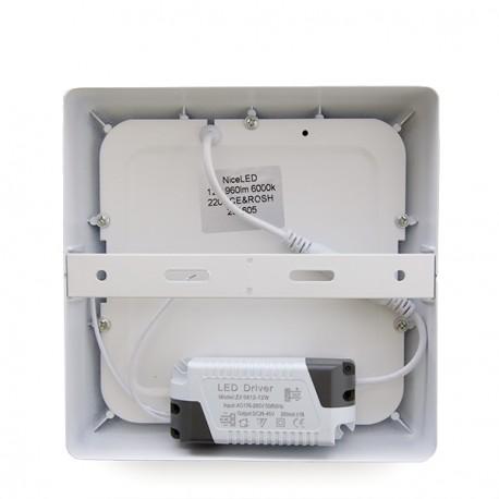 "Plafón de Techo de LEDs Cuadrado de Superficie ""STYLE"" 174mm 12W 960Lm 30.000H"