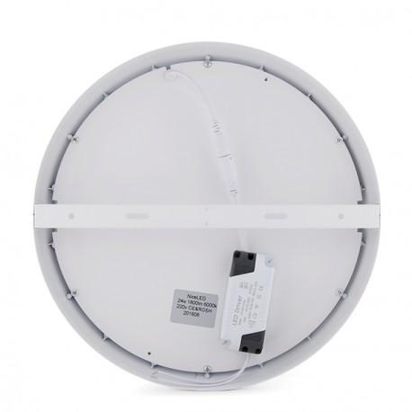 """Plafón de Techo de LEDs Circular de Superficie """"STYLE"""" 300mm 24W 1800Lm 30.000H"""