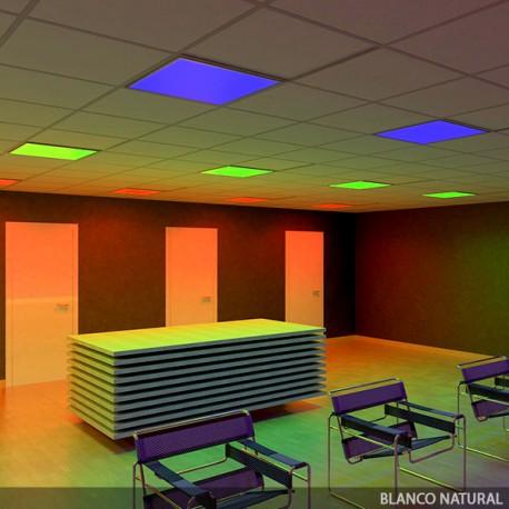 Rectangular LED Panel RGB 595x595mm 32W 24VDC Driver/Centralised Controller