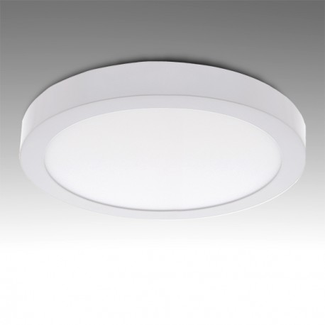 Pack of 2 Circular Surface Mounted LED Ceiling Lamps Ø225mm 18W 1190Lm 30.000H