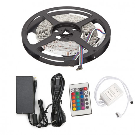 buy online a630a 5a1f7 LED Strip 300 X SMD 5050 5M MultiColoured RGB IP33 Transformer/Controller