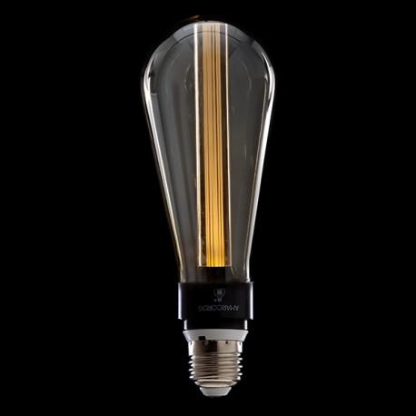 Deco 3d St64 Verre Gris Led Ampoule 5w Art À E27 Yyb7g6vf
