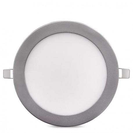 ECOLINE Circular LED Slimline Downlight 225m 18W 1350Lm 30.000H Silver Frame