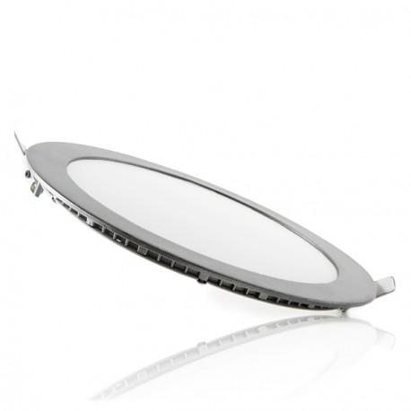 ECOLINE Circular LED Slimline Downlight 240mm 20W 1860Lm 30.000H Silver Frame