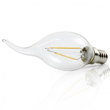 Pack of 10 E14 LED Filament Bulb 4W 400Lm 30.000H
