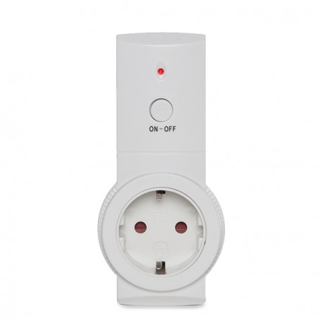 Schuko Power Outlet with Remote Control - Child Protection - Max. 3680W