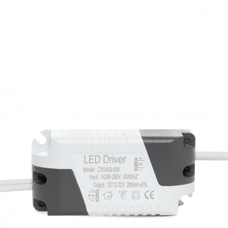 Non-Dimmable Driver for LED Spotlights/Downlights 6W
