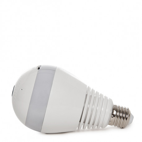 WIFI Camera 1.3 Mp 360º Fish Eye in E27 LED Bulb with Motion Detection/Two Way Sound/Night Vision