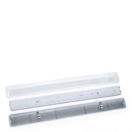 IP65 Luminária para dois tubos LED 1200mm ABS / PC