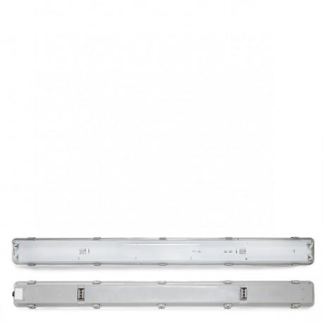 Luminária IP65 para dois tubos LED 1500mm ABS / PC