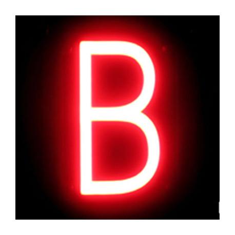 "LED Neon Letter ""B"" Breedte 92mm Hoogte 161mm Diepte 38mm"