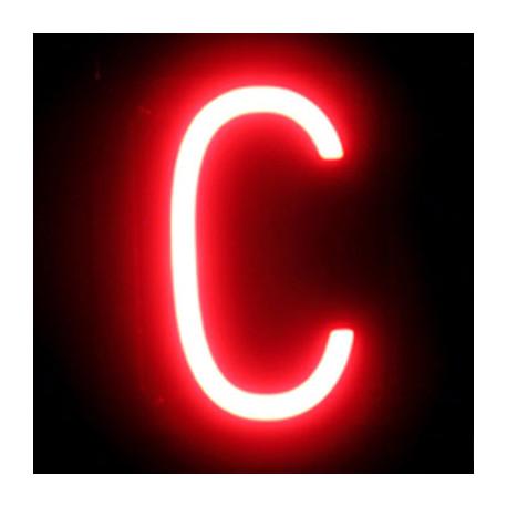 "Letra LED Neon ""C"" Ancho 100mm Alto 161mm Fondo 38mm"