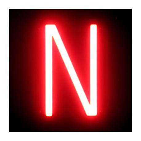 Letter LED Neon N Width 97Mm Height 161Mm Depth 38Mm