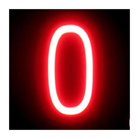 "Número LED Neon ""0"" Ancho 90mm Alto 161mm Fondo 38mm"
