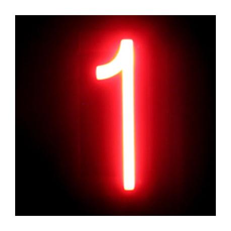 "Número LED Neon ""1"" Ancho 54mm Alto 161mm Fondo 38mm"