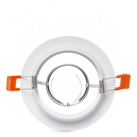 Aro Downlight Circular Blanco 120mm