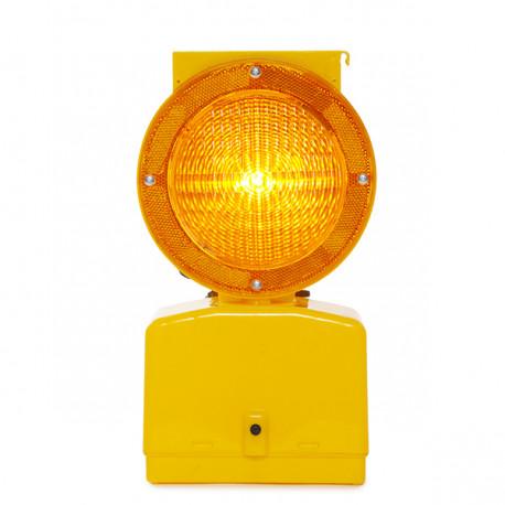LED sončna opozorilna lučka - rumena