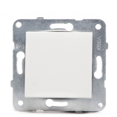 Lülitage Panasonic Karre 10A 250V / Küünte / Valge Metallraam