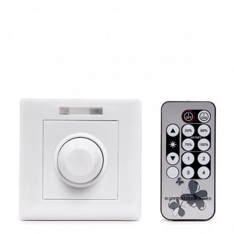 LED Dimmer 90-240VAC 0-100% 300W with Remote Control