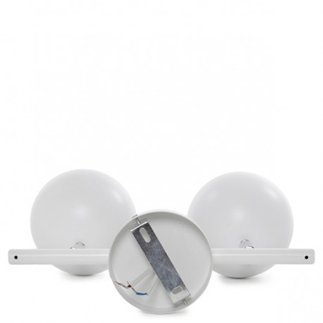 Aplique para dos bombillas GU10 (sin bombillas)