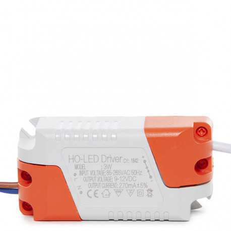 Non Dimmable Driver 0.95PF 50,000H for 3W LED Downlights